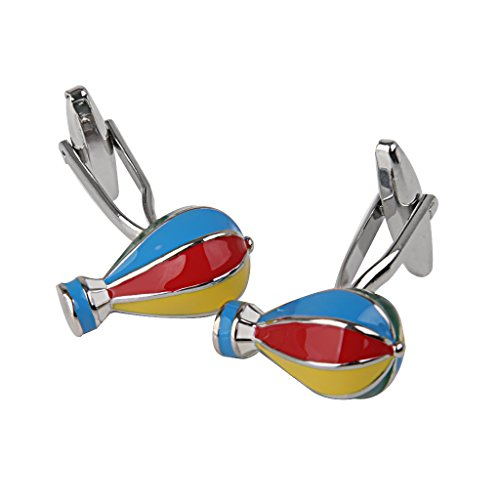 ELECTROPRIME Fashion Men Groom Wedding Party Colorful Hot-air Balloon Shirt Cufflinks