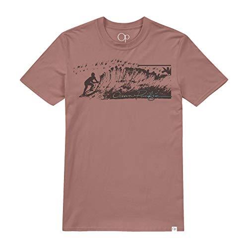 Ter Terracotta (Ocean Pacific Herren Riding The Wave T-Shirt, Braun (Terracotta TER), Large)
