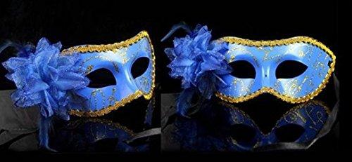 Preisvergleich Produktbild Partymaske No6, Clubmaske, Sexy Augenmaske, Fasching, Venezia, Farbe blau