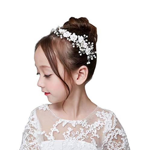 ZQZSDT Stirnband, Kind Krone Haarschmuck Mädchen Kopfbedeckungen Prinzessin Krone Stirnband Perle Stirnband Haarschmuck anzeigen