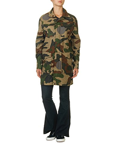 G-Star Women's Rovic Parka Women's Jacket With Camo Print In Size M Green