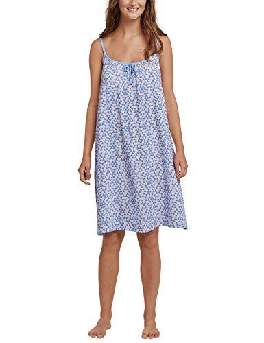 Schiesser Damen Sleepshirt Spaghetti, 90cm Nachthemd, Blau (Air 802), 46 (Herstellergröße: 046) -