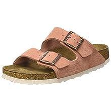 Birkenstock Sandales Arizona Sfb Cuir Suede Earth Red, Women's Sandal, Earth Red, 5.5 UK (39 EU)