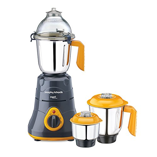 Morphy Richards Primo Classique 640094 750 Watt Mixer Grinder (Black and Yellow)