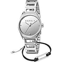 Esprit Slice Mini Women's Silver Dial Stainless Steel Analog Watch & Bracelet Set - ES1L058M0015