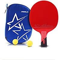 xianw 6 Estrellas Ping Pong Padel - Raqueta de Tenis de Mesa Profesional Mejor con Caucho