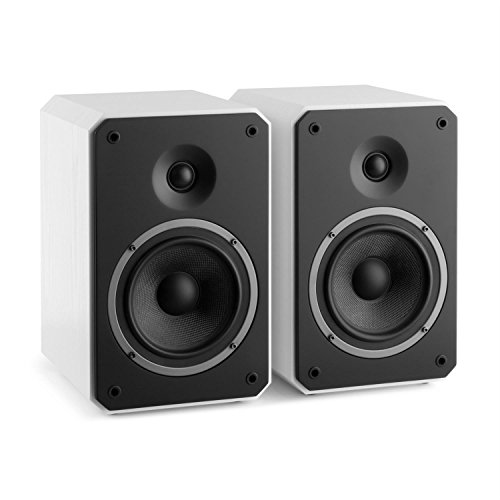NUMAN Octavox 702 MKII - Regal-Lautsprecher, Lautsprecher-Boxen, HiFi-Boxen, high-end Boxen, 2-Wege-Lautsprechersystem, 100 Watt max, Bassreflex, abnehmbare Lautsprecherabdeckung, weiß