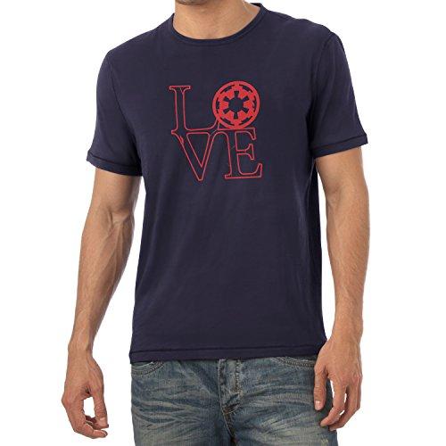 TEXLAB - Empire Love - Herren T-Shirt, Größe L, navy (Amor Kostüm Für Herren)