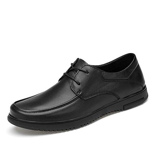 HILOTU Oxford-Schuhe Für Männer Formelle Business-Schuhe Beiläufige OX Leather Flexible Outsole Sneakers (Schnürung Oder Fleece Inside Ist Optional) (Color : Black Lace, Größe : 41 EU) -