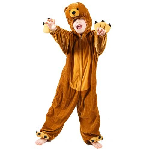 Bear Großbritannien Kostüm Head - Kids Animal Boogie Woogie Bear Fancy Dress Costume