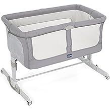 Chicco Next2Me Dream - Cuna de colecho con anclaje a cama, balancín y 11 alturas, color azul, marrón o gris