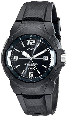 Casio MW600F-1AV – Reloj para hombres, correa de goma color negro