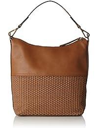 ESPRIT Damen 057ea1o047 Umhängetasche, Braun (Rust Brown), 12 x 32 x 28 cm