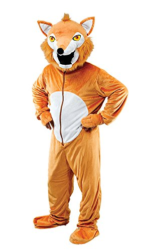 Bristol Novelty- AC940 Costume de Renard avec Grosse Tete, Multicoloured, 44-inch Chest Size