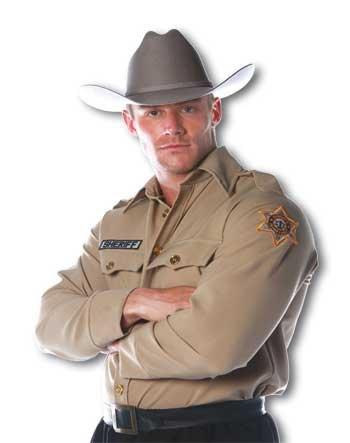 Shirt Kostüm Sheriff (Sheriff Shirt Kostüm Gr.L)