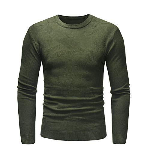 Sannysis Strickpullover Herren Sweater Sweatshirt Pulli Slim Fit Langarmshirt Männer Mantel Outwear