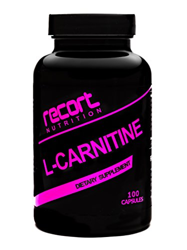 Recort Nutrition L-Carnitin, 100 Kapseln, hochdosiert, 1000 mg pro Tagesdosis, Definitionsphase, Diät, Made in Germany
