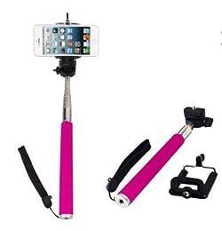 Tamtam Live Bastón Extensible Selfie Clip Rosa - Palos para autofotos (Universal, Rosa, De plástico, 10m, 100 cm, 100g)