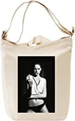 Idea Regalo - Sexy Babe Middle Finger Borsa Giornaliera Canvas Canvas Day Bag| 100% Premium Cotton Canvas| DTG Printing|
