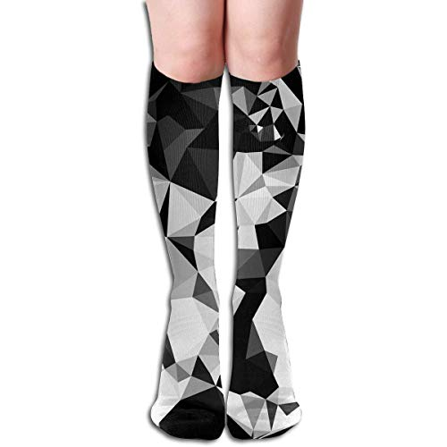Tiger-yoga-hose (Xdevrbk 19.68 Inch Compression Socks Tiger Animal Triangle High Boots Stockings Long Hose for Yoga Walking for Women Man)