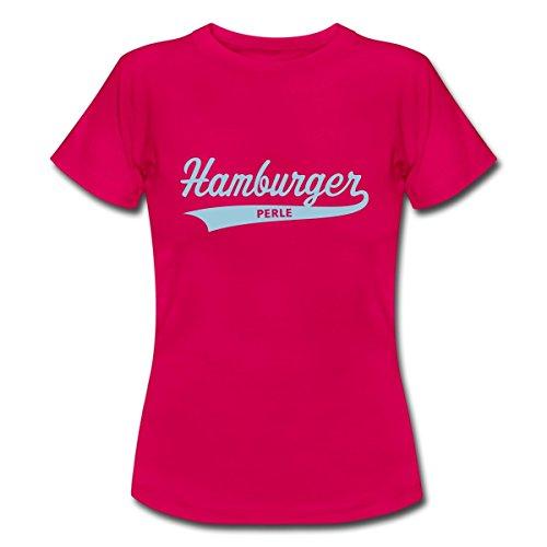 Spreadshirt Hamburger Perle Frauen T-Shirt, XXL, Rubinrot (Aus T-shirt Perlen Baumwolle)