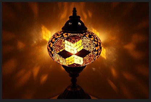 Gold-mosaik-tisch-lampe (Mosaiklampe Mosaik - Tischlampe L Stehlampe orientalische lampe Gold Samarkand-Lights)