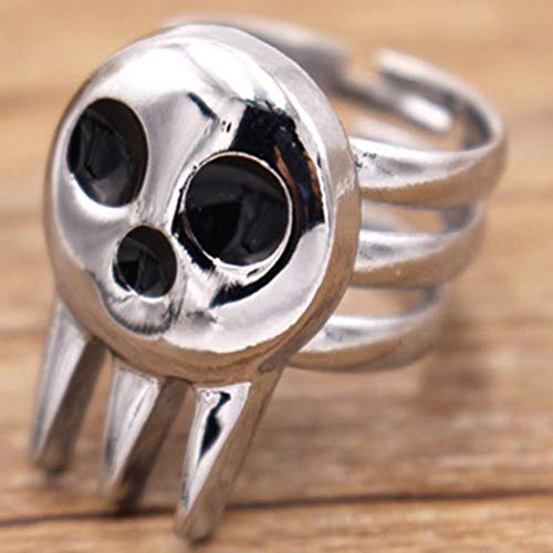 Kostüm Vintage Ringe - WGY Anime Soul Eater Death The Kid Einstellbarer Ring Cosplay Kostüme Requisiten Vintage 925 Sterling Silber Neuheit