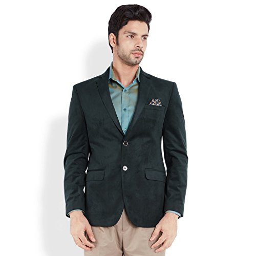 Park Avenue Light Green Solid Men's Jacket