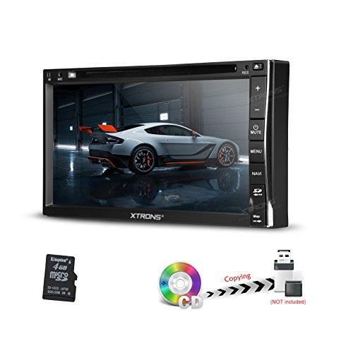 Virtuelle Kamera (XTRONS® Doppel 2DIN 17,7cm Auto Stereo DVD player HD Digital TFT Touch Screen Bluetooth Radio GPS SWC virtuellen 6CDC Front & reservieren Kamera Eingang)