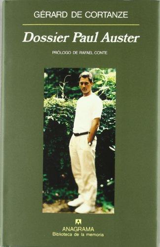 Dossier Paul Auster (Biblioteca de la memória) por Gérard de Cortanze