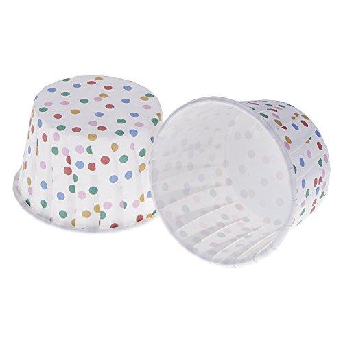 100 Stücke Backen Kuchenform Cupcake Liner Papier Muffin Cases Kuchen Tasse Box Halter Weiß+Punkt
