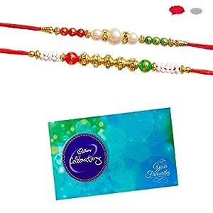 Maalpani Chocolate Rakhi Gift Brother Sister Love Bond Rakshabandhan Gift Hamper Small Multicolor (Set 1)