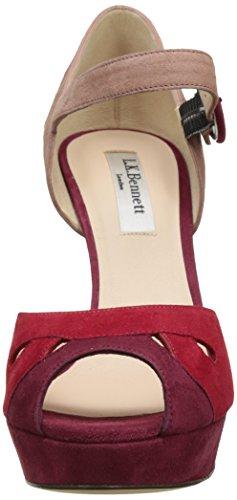LK BENNETT Eli, Sandales Bout Ouvert Femme Multicolore (ROCA RED)
