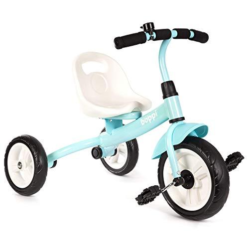 boppi Tricycle à pédales et à Pousser pour Enfant - Bleu