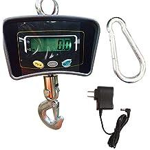 SHIOUCY Shimano - Báscula electrónica para grúa, 500 kg, Pantalla LCD, balanza Colgante