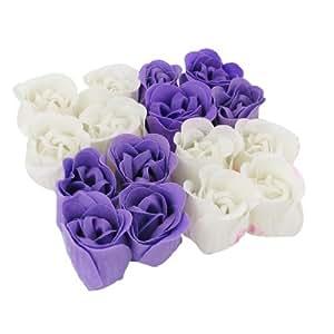 16pz Bagno Corpo Viola Bianco Fiore Quadrata Rosa Chiodo Petalo Sapone