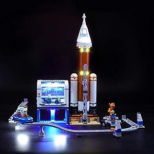 BRIKSMAX Kit di Illuminazione a LED per Lego City Space Port Razzo Spaziale e Centro di Controllo,Compatibile con Il… LEGO City LEGO