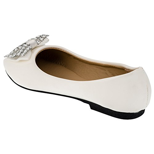 Infiniti Shoes , Ballerines pour fille #92ws Weiß