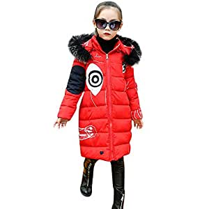 4461e7130d7 ... Fineser Baby Clothes Winter Girls Coat, Stylish Kids Little Girl Padded  Warm Fur
