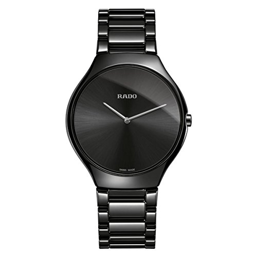 Rado True Thinline Herren-Armbanduhr 39mm Armband Keramik Quarz R27741182
