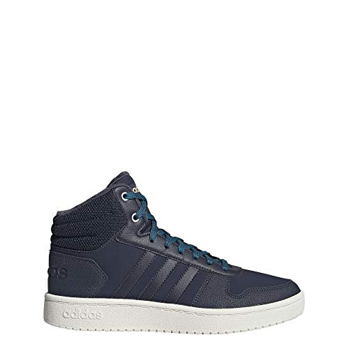 adidas Damen Hoops 2.0 Mid Basketballschuhe, Blau (Trace Blue F17/Trace Blue F17/Active Teal), 38 2/3 EU (5.5 UK)
