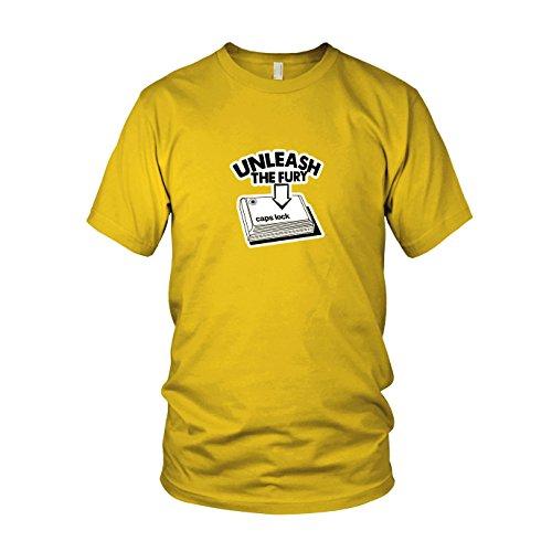 Caps Lock Fury - Herren T-Shirt, Größe: XXL, Farbe: ()