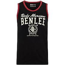 Benlee Rocky Marciano Pittsfield - Camiseta sin mangas para hombre, hombre, Men Jersey Singlet Pittsfield, negro, large