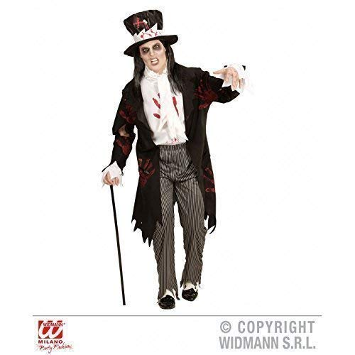 Männer Zombie Kostüm Bräutigam - Lively Moments Kostüm Zombie Groom / Halloween Bräutigam mit Frack / Halloweenkostüm / Herrenkostüm / Männerkostüm Gr. L = 52