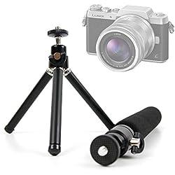 Duragadget Trépied/Perche Selfie 2 en 1 Extensible pour Nikon D5600, Panasonic GF9 / Lumix DC-FZ82, Polaroid Pop appareils Photo - Pieds Solides