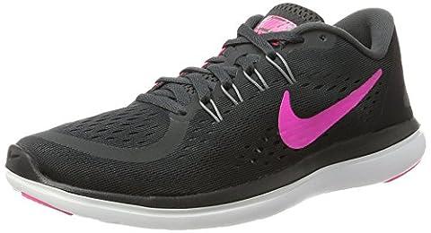 Nike Damen Women's Free RN Sense Running Shoe Hallenschuhe, Mehrfarbig (Anthracite/Pink Blast-Black-Cool Grey), 40.5 EU