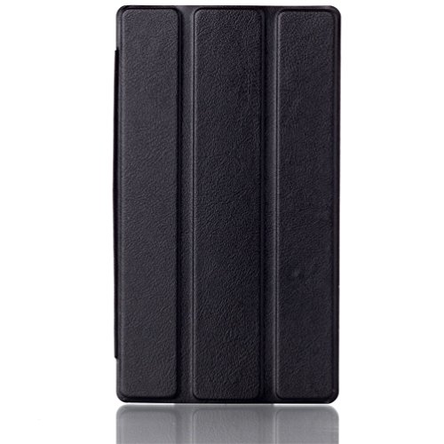 Lenovo Tab 2 A7-30F Schutzhülle - Schwarz Utra Slim Ledertasche Smart Case Cover Style Schutzhülle Hüllen Tasche für Lenovo Tab 2 A7-30 17,8 cm (7 Zoll IPS) Lederhülle Etui mit Standfunktion
