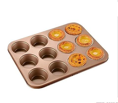 Qualität Backform Kuchen Schimmel 12 Tassen Kuchen Teller, Gold-beschichteter Backen Schüssel 230 ° c , 6 cup