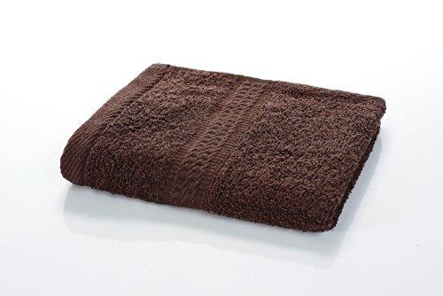 etérea Handtuch - Frotteeserie, schwere und flauschige 500 g/m² Qualität, 30 cm x 30 cm Seiftuch in Dunkel Braun