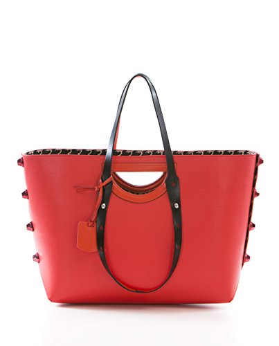 TWIST BAG HPO - Shopping Bag L reversibile Made in Italy ocra / arancio